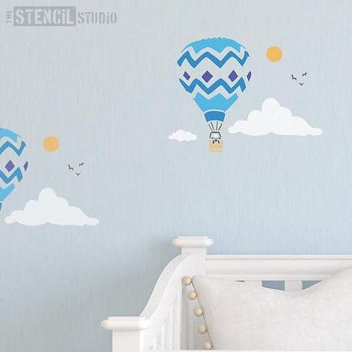 Stencil Balloon and Sheep