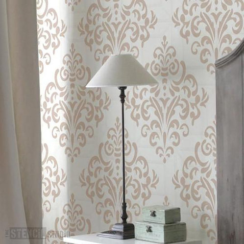 Stencil Diamond Damask Repeat