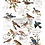 Thumbnail: DECALCOMANIA POSTAL BIRDS 61x89 cm