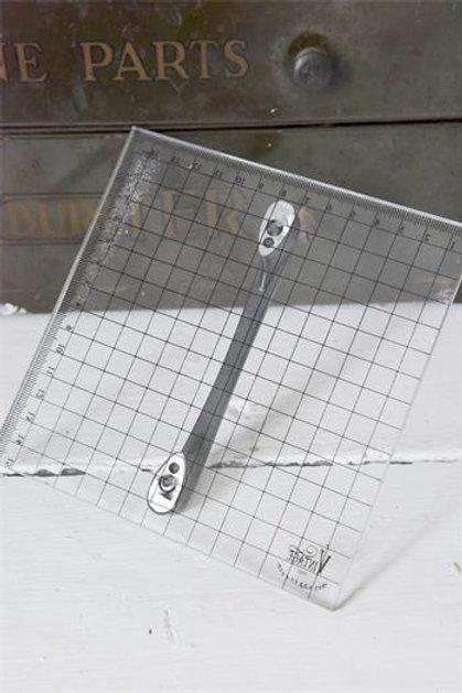 Piastra di supporto per timbri cm 15 x 15