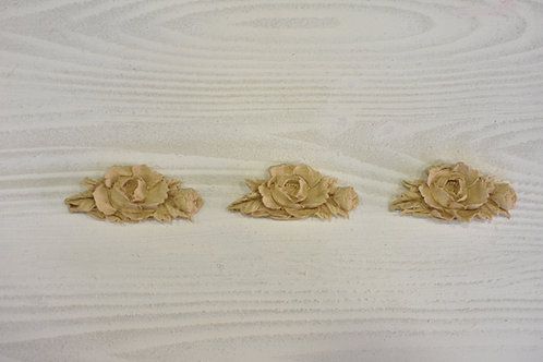 3 Fregi rosellina pasta di legno