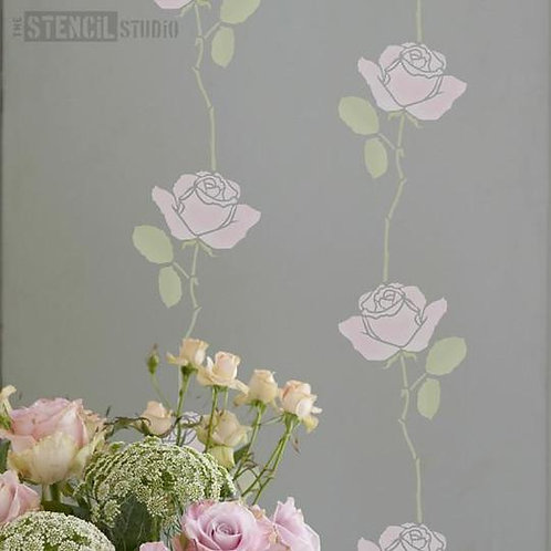Stencil Summer Rose Stem