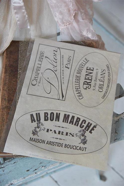 Decorazione monouso per mobili e pareti Au Bon Marche