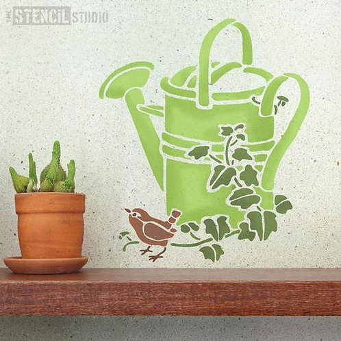 Stencil Watering Can