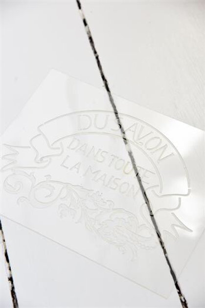Stencil DU SAVON cm 20 x 27