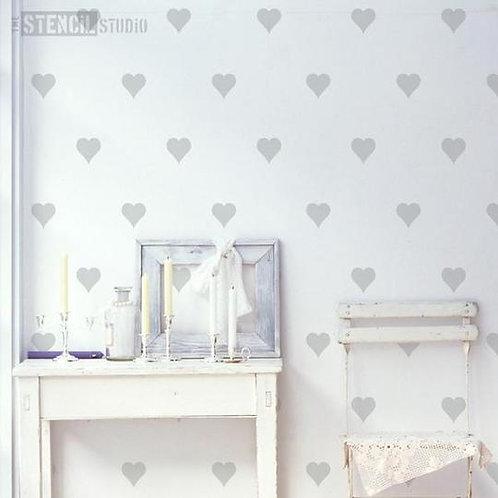 Stencil Hearts Content