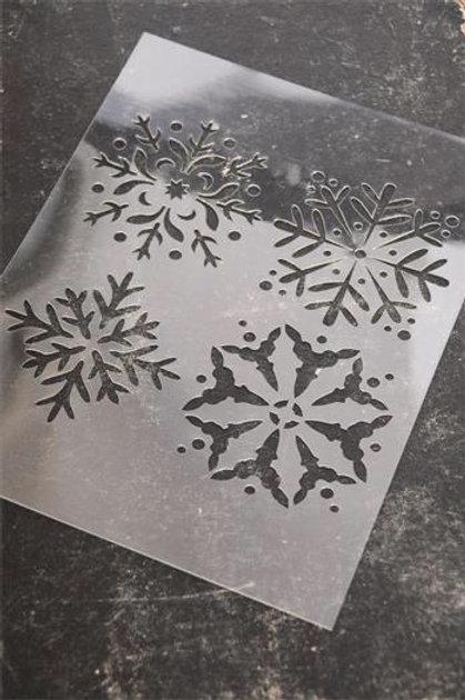 """Stencil """"Fiocchi di Neve"""""""