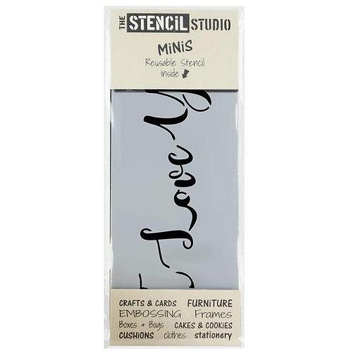 Mini Stencil I Love You