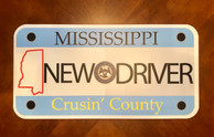 New Driver license plate