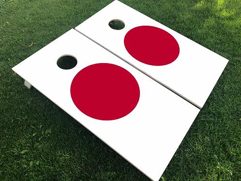 Japan Flag Cornhole Boards
