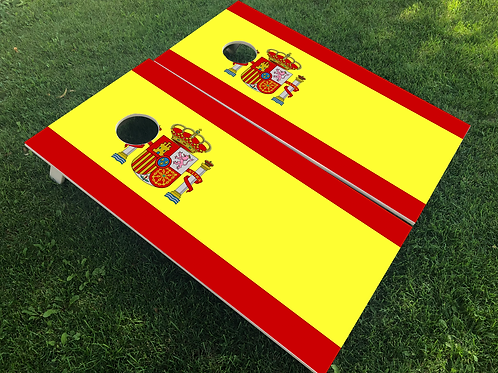 Spain Flag Cornhole Boards