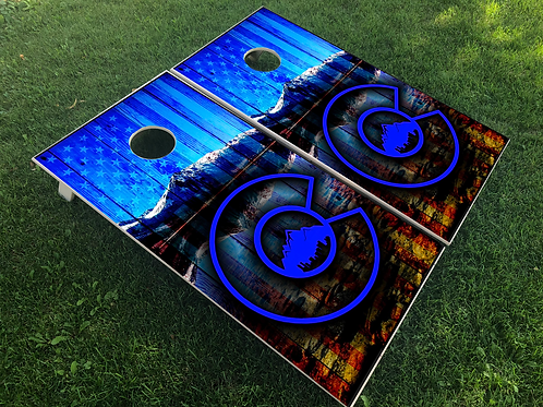 Colorado Blue Flag Cornhole Boards