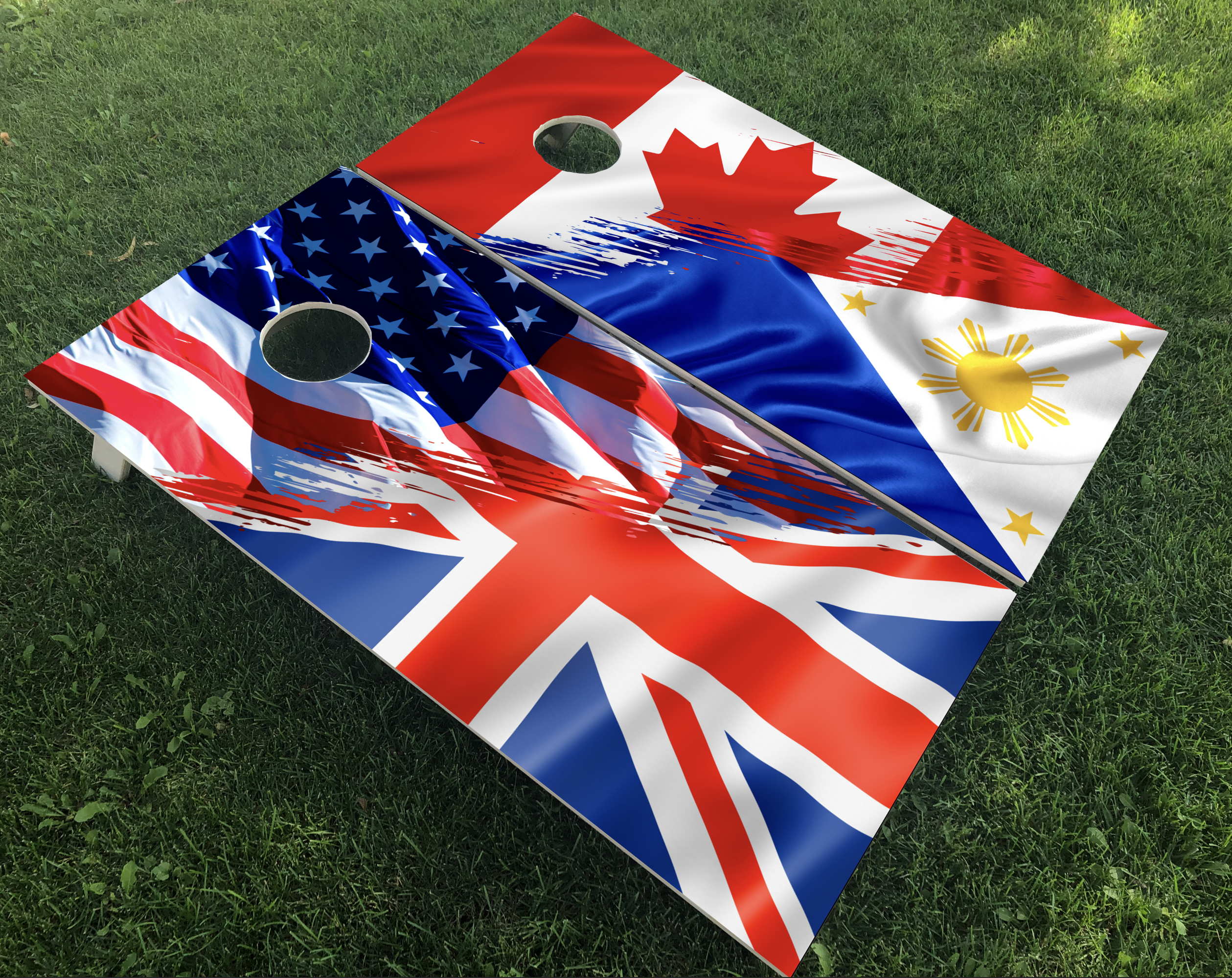 Split Flag Heritage Cornhole Boards