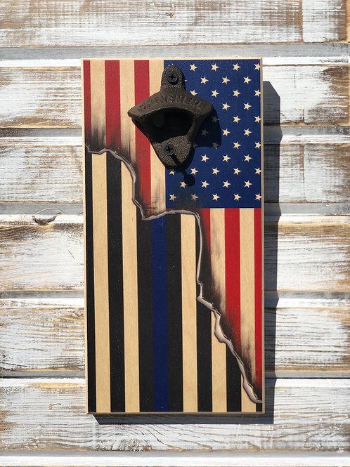 Split Flag Bottle Opener