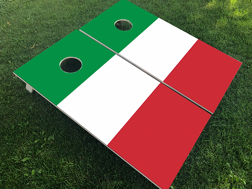 Italy Flag Cornhole Boards