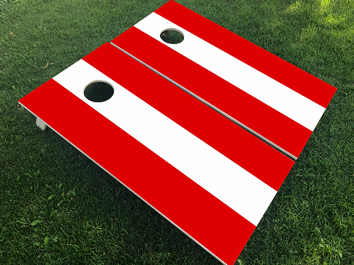 Austria Flag Cornhole Boards
