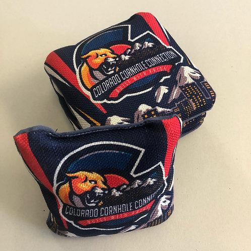 Colorado Cornhole Connection Stripe Bags