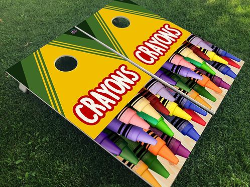 Crayon Cornhole Boards