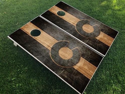 Colorado Rustic Black Cornhole Boards