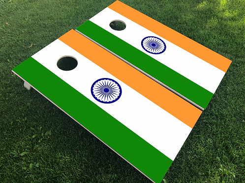 India Flag Cornhole Boards