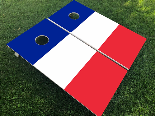 France Flag Cornhole Boards