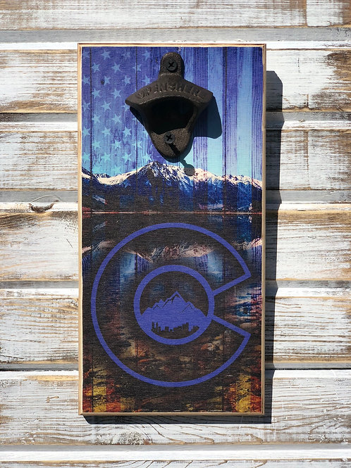 Colorado Blue Flag Bottle Opener