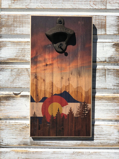 Colorado Sunset Bottle Opener