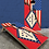 Thumbnail: Arkansas American Split Flag Cornhole Boards