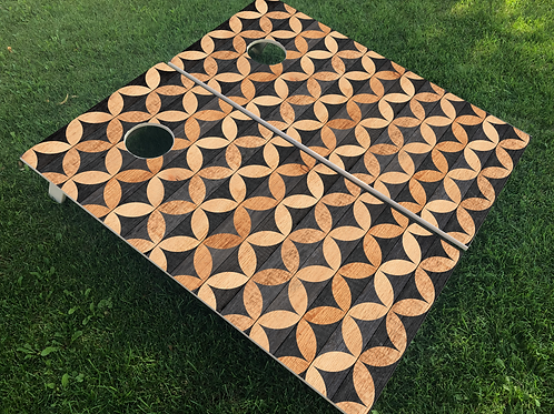 Geometric Cornhole Boards