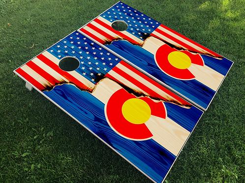 American/Colorado Split Flag