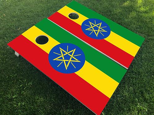 Ethiopia Flag Cornhole Boards