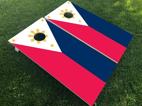 Phillipines Flag Cornhole Boards