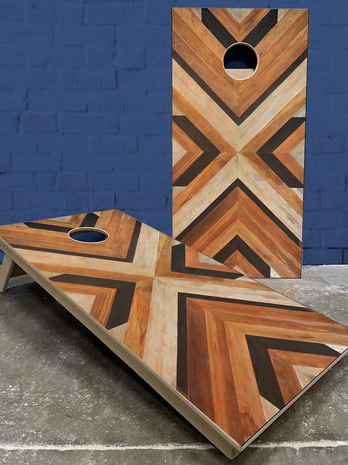 Chevron Wood Cornhole Boards