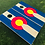 Thumbnail: Colorado Flag Cornhole Boards