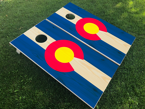 Colorado Flag Cornhole Boards