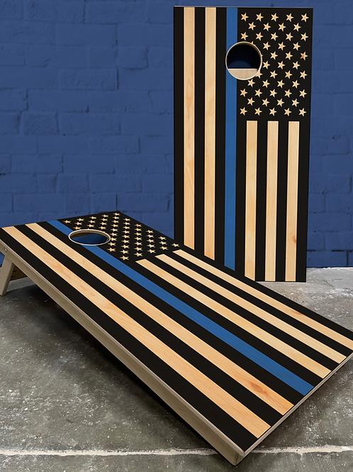 Thin Blue Line Flag Cornhole Boards