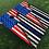 Thumbnail: Rustic American/Thin Blue Line Split Flag Cornhole Boards