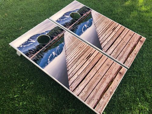 Mountain Dock Cornhole Boards