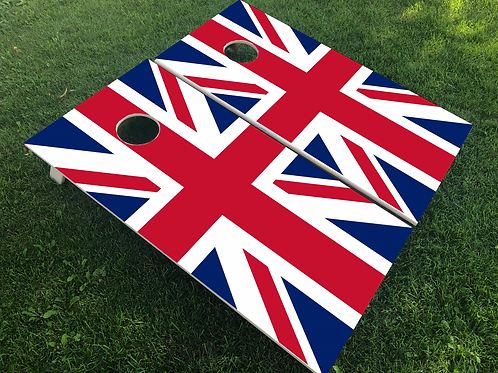 United Kingdom Flag Cornhole Boards