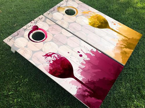 Wine Cornhole Boards