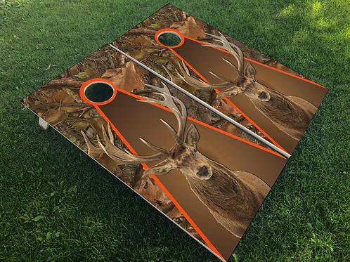 Deer in Camo Cornhole Boards