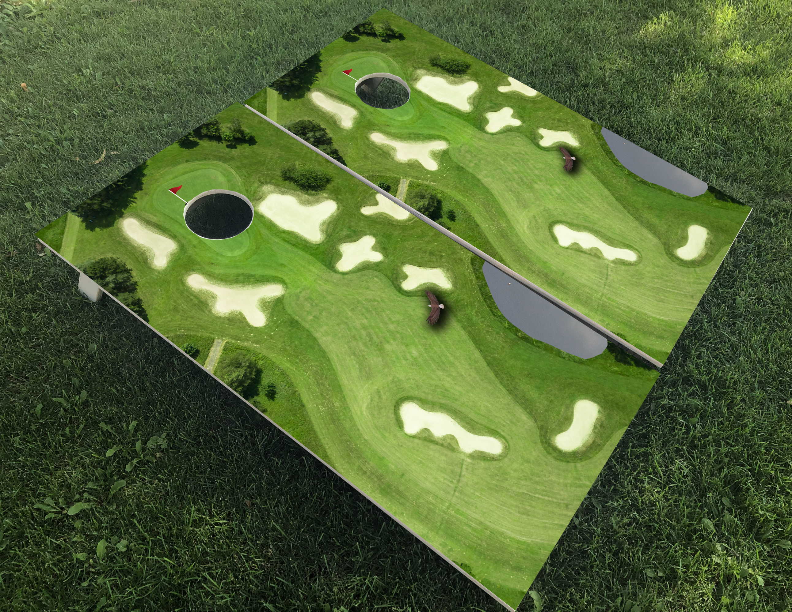 Golf Course Cornhole Boards