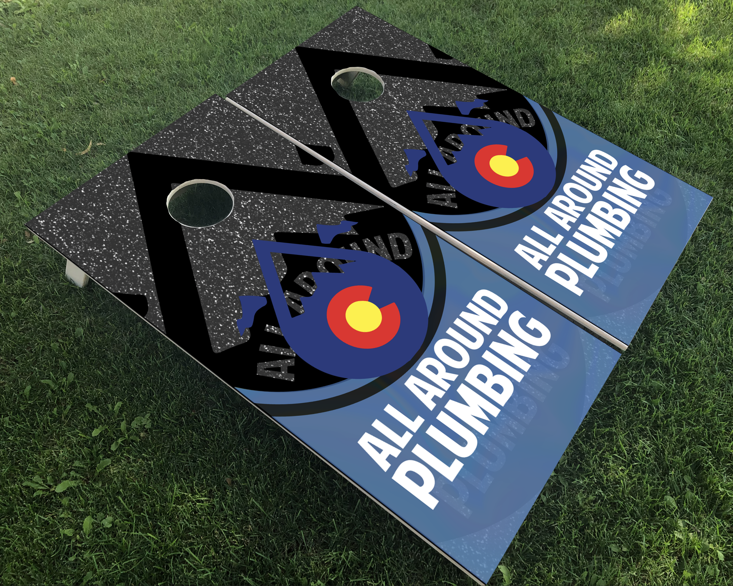 All Around Plumbing Cornhole Boards