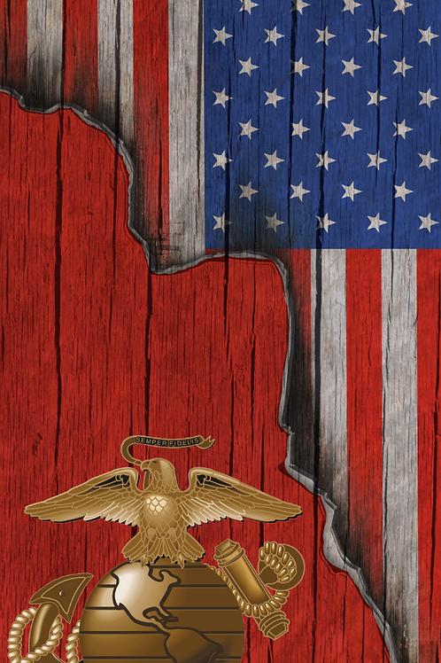 American Flag/Marine Cornhole Boards