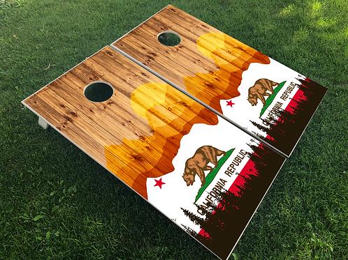 California Wood Plank Cornhole Boards