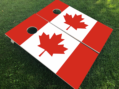 Canada Flag Cornhole Boards