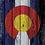 Thumbnail: Rustic Splat CO/Am Flag Cornhole Boards