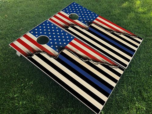 Split Flag Cornhole Boards