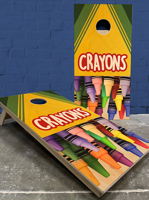 Crayon Cornhole Boards