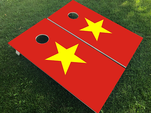 Vietnam Flag Cornhole Boards